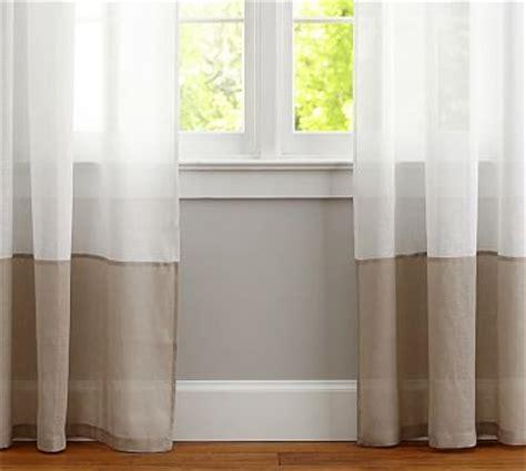 belgian linen bottom border sheer curtain whiteflax