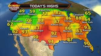 Usa Map Weather by Usa Todayshighs Pngmay3 171 Fox News Weather Blog
