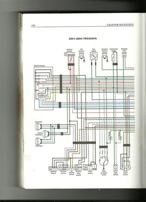 wiring diagram    rubicon  honda foreman