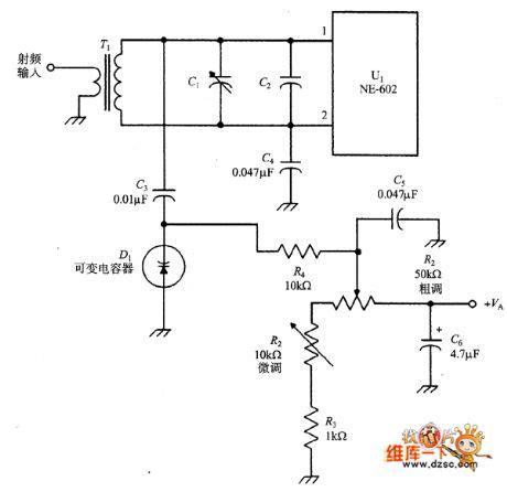 functions of varactor diode ne 502 varactor tuning input circuit circuit diagram world