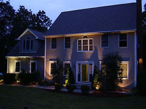 House Uplighting Backyard Design Pinterest