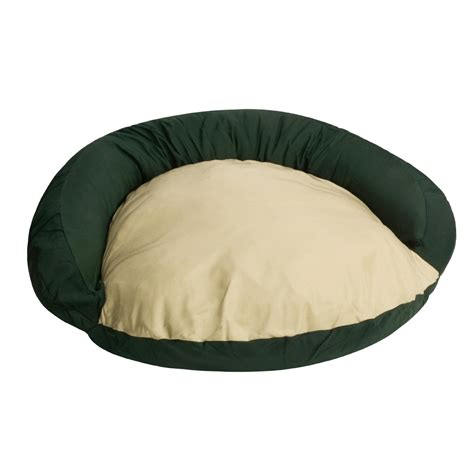 large round dog bed orvis tough chew bolster large pet bed round 1443a