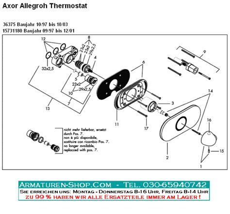 wasserhahn teile hansgrohe ersatzteile f 252 r thermostat armaturen unterputz