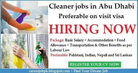 cleaner jobs in dubai cleaner jobs in abu dhabi preferable on visit visa