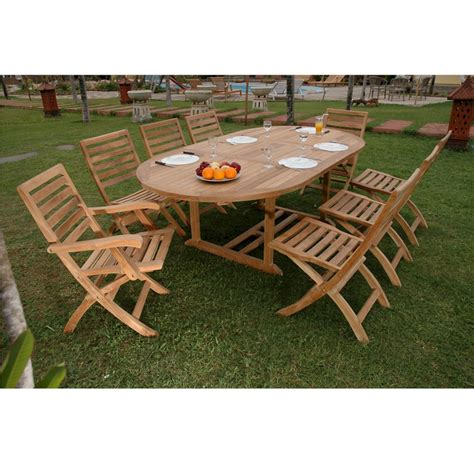 9 patio dining set from teak