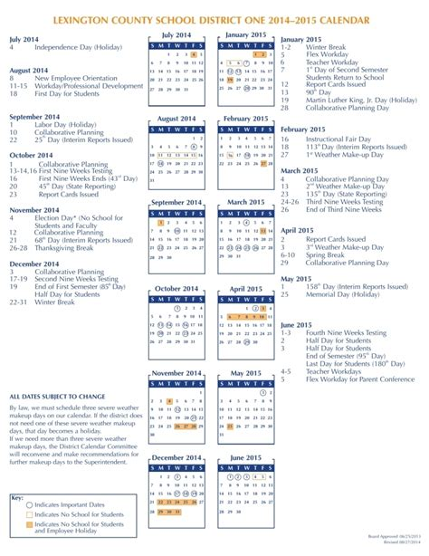 Fort Zumwalt South Middle School Team 6 2 Calendar Template 2018 School Calendar Template