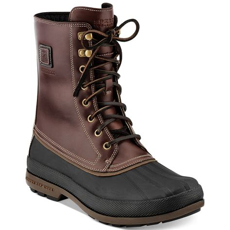 duck boots for lyst sperry top sider coldbay duck boots in purple for