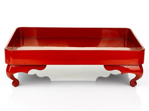 Home Furniture Design Catalogue Pdf by Two Japanese Red Lacquer Ozen Trays