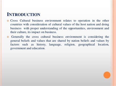 Cross Cultural Management Ppt Mba by Cross Cultural Business Environment