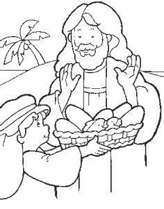 feeding 5000 coloring sheet | feeding the 5000  miracle of