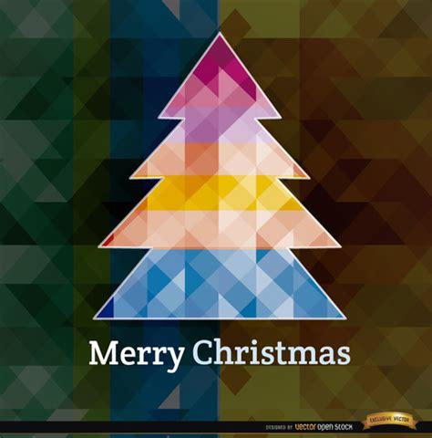 arbol de navidad de colores 193 rbol de navidad con tri 225 ngulos de colores descargar