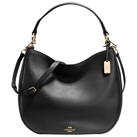 hobo leather bags coach nomad leather hobo bag in black lyst