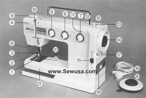 elna sewing machine parts diagram elna 500 electronic manual