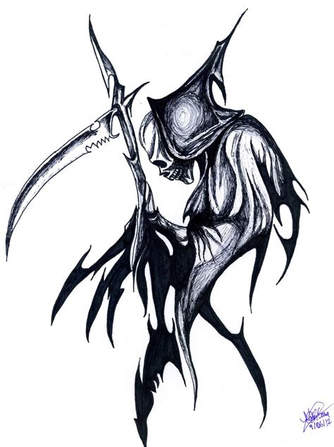 tribal grim reaper tattoos reaper tribal clipart best