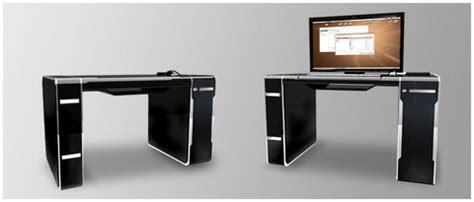 Sync Luxury Integrated Pc Desk Slashgear Bureaux Informatique