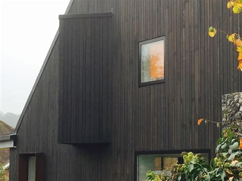 Shou Sugi Ban black cedar cladding in Amersham