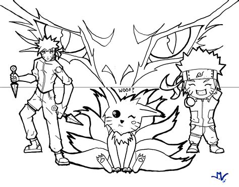 fox tail coloring page naruto 9 tails fox free coloring pages