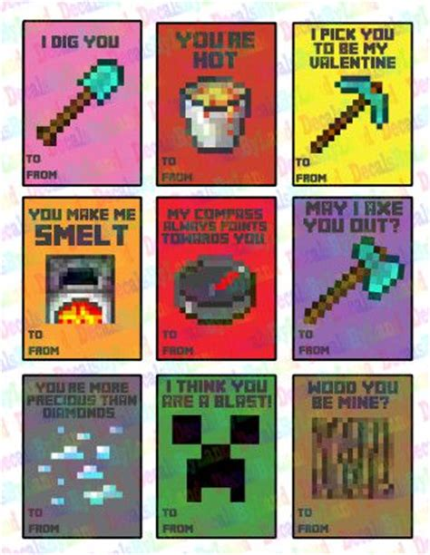 Minecraft Valentine S Day Cards - 163 best images about minecraft on pinterest valentine day cards papercraft and lego