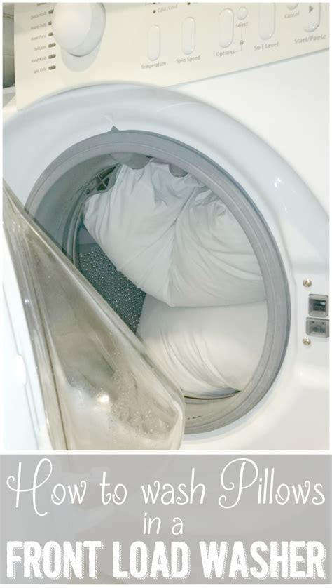 how to wash pillows in a front load washing machine ask