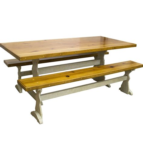 pine table and benches rustic pine dining table with benches ebth
