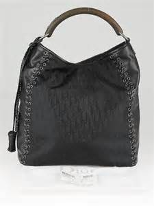 Diorissimo Hobo by Christian Brown Diorissimo And Leather Grommet