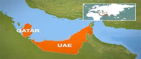 qatar uae map uae overwhelmingly backs tough line on iran but