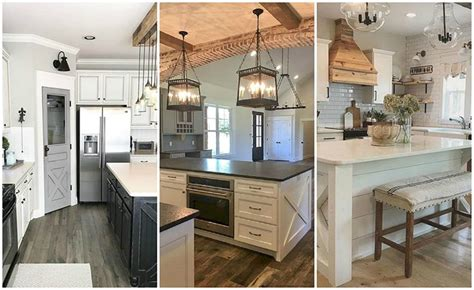 Industrial Farmhouse Kitchen by 20 Farmhouse Kitchen Ideas For Fixer Style