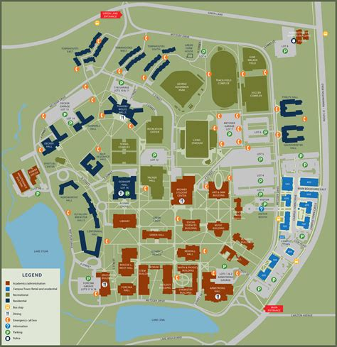 college map cus map the college of new jersey