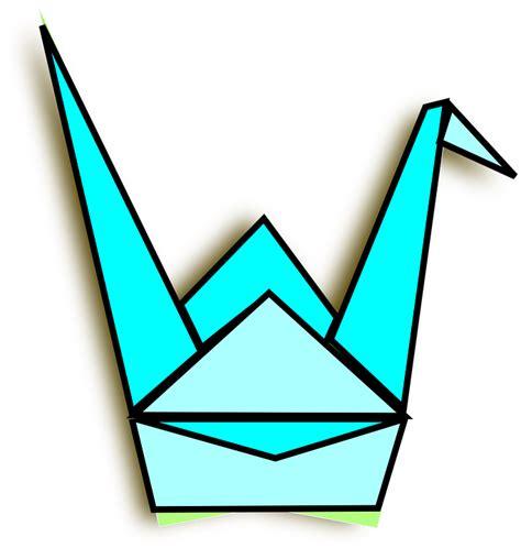 Transparent Origami Paper - free vector graphic crane origami paper bird blue