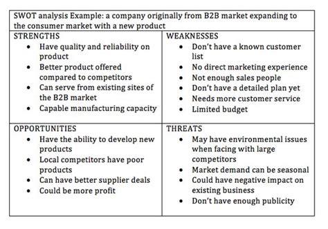 swot analysis  test grow  home business swot analysis examples organizational