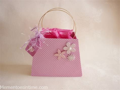 handbag gift box template card ideas mementoes in time