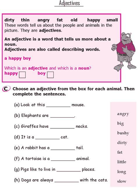 grade 1 grammar lesson 7 adjectives 1 grade 1 grammar
