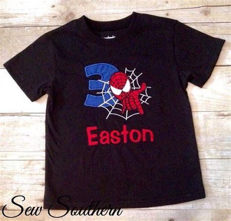 Spider Shirt Shirt For Birthday Custom Spider Birthday Shirt By Shopsewsouthern On Etsy Future Birthday