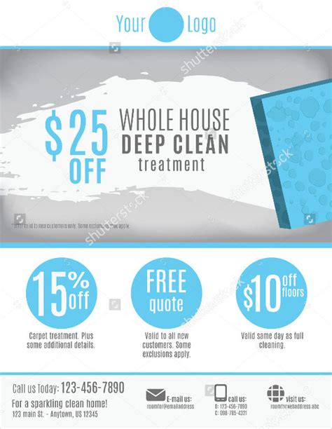 62 Business Flyer Templates Free Premium Templates Cleaning Company Flyer Template