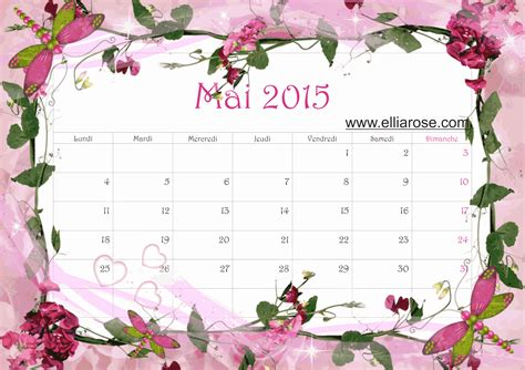 Calendrier Mai 2015 Calendrier Du Mois De Mai 2015