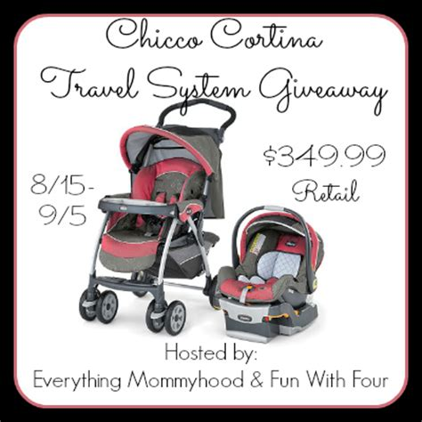 Chicco Giveaway - chicco cortina travel system giveaway griffin s honey blog