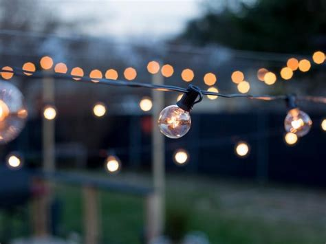 How To Hang Outdoor String Lights From Diy Posts Hgtv How To String Lights In Backyard