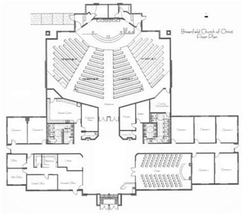 Small Church Floor Plans Small Church Building Floor Plans