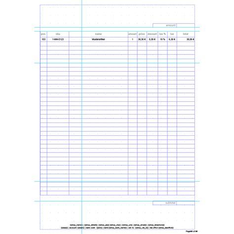invoice pdf pro standard invoice template english
