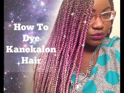 what gives shine to kanekalon hair the right way to color kanekalon hair video black hair
