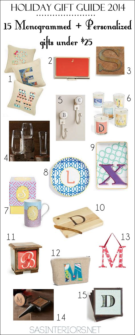 monogrammed gift ideas gift guide 2014 15 monogrammed personalized