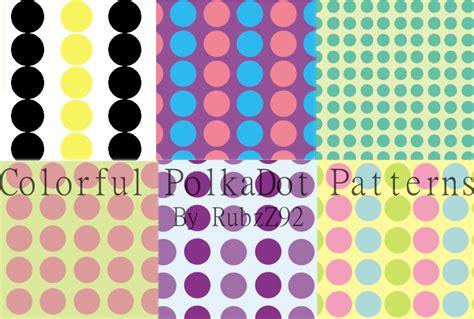 dot pattern deviantart colorful polkadot patterns by rubzz on deviantart