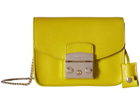 Furla Metropolis Mini 8 furla metropolis mini crossbody in yellow lyst