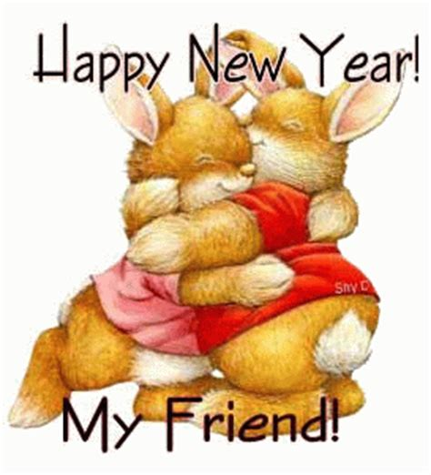 happy new year my friend a great hug mania scraps
