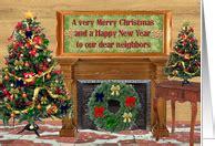 christmas cards  neighbor  greeting card universe