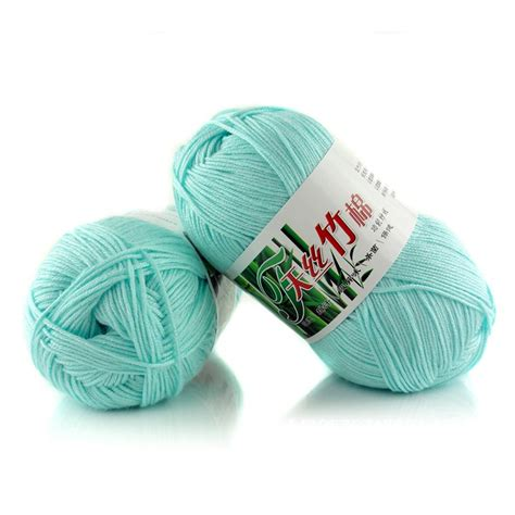 cotton knitting yarn wholesale popular colors soft smooth bamboo