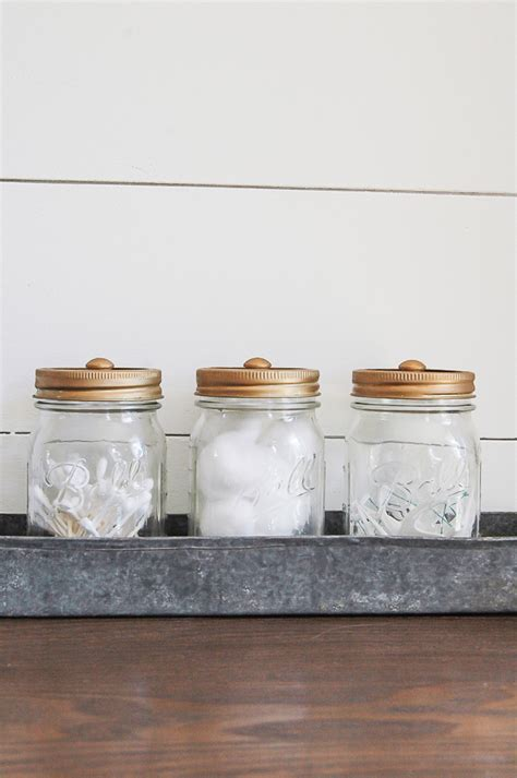 bathroom jars with lids decorative mason jar bathroom storage little house of