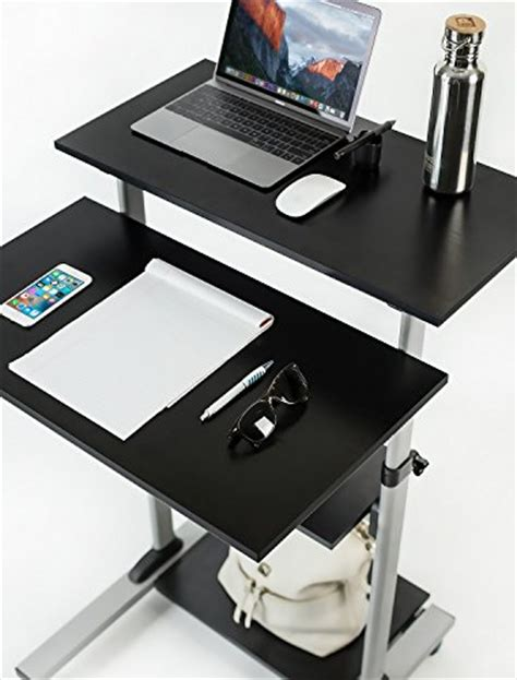 Mobile Stand Up Desk by Mount It Mobile Stand Up Desk Height Adjustable