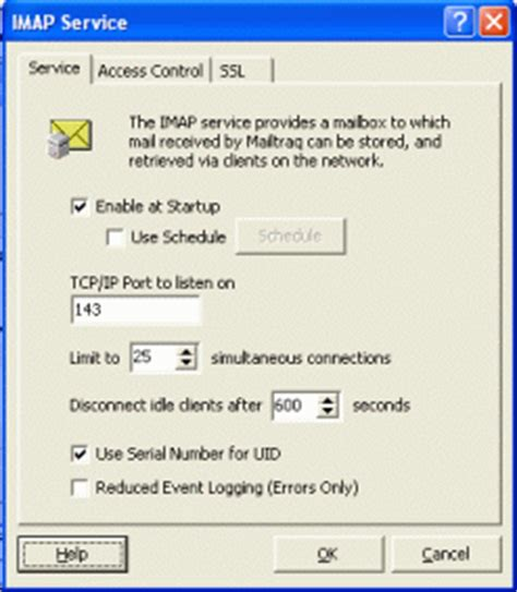 imap email server in the mailtraq email server software