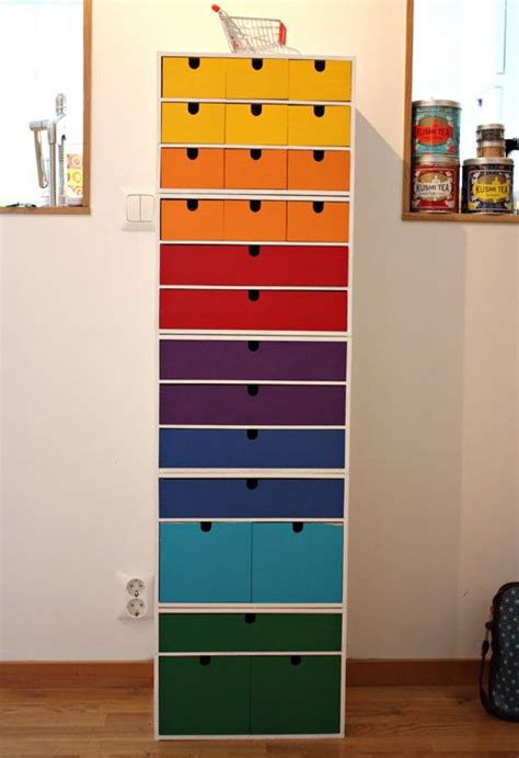 hack storage diy ikea hack colorful storage storage pinterest
